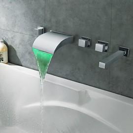 Chrome Thermochromic LED cascade salle de bain robinet
