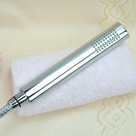laiton finition chrome ronde tête de douche de poche solide contemporain sans tuyau