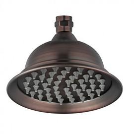 Antique Bronze 6 pouces Chef de douche en laiton précipitations