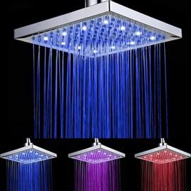 Robinet de douche - Contemporain - LED / Cascade / Douche pluie - Plastique ABS de grade A (Chromé)