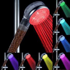 Multi-couleur LED clignotante douche à main