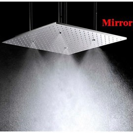 20 Inch Stainless Steel 304 Ceiling Mounted Bathroom Shower Head With Atomizing And Rainfall Two Water Functions