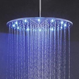 Douche pluie Contemporain LED / Effet pluie Acier inoxydable Nickel