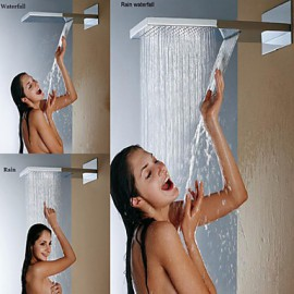 Wall Mounted Stainless Steel 304 Waterfall And Rainfall Bathroom Shower Head