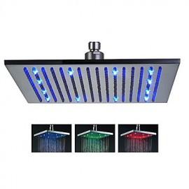 16 pouces tête de douche en acier inoxydable avec changement de couleur a conduit la lumière