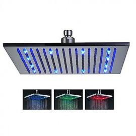 Douche pluie Contemporain LED/Effet pluie Acier inoxydable Fileté