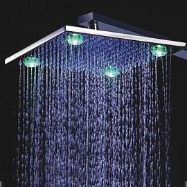 12 pouces couleur change pomme de douche à LED avec 4 LED