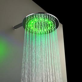 Tête 12 pouces douche en laiton avec des couleurs de lumière LED changeant