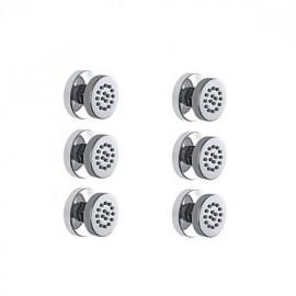 6pcs jets rond vaporisateurs pour le corps massage spa de douche en laiton
