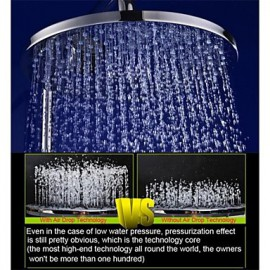 10 Inch Brass Air Injection Water Saving Eco-friendly Rainfall Bathroom Shower Head