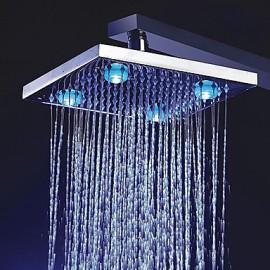 8 pouces couleur change pomme de douche à LED avec 4 LED