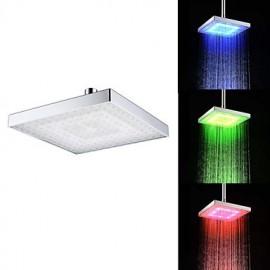 Douche pluie Contemporain LED/Effet pluie ABS Classe A Chromé