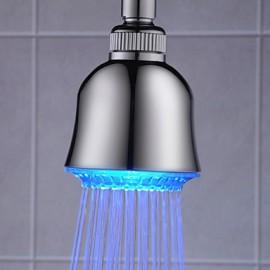 3 têtes pouces douche en ABS avec des couleurs de lumière LED changeant