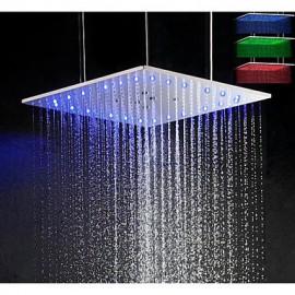 20 pouces oscillant et de la pluie LED 3 couleurs sensible tête de douche de température avec plafond monté bras de douche