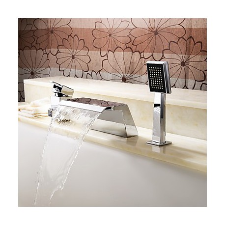contemporaine robinet de baignoire cascade avec douche a main finition chromee Résultat Supérieur 14 Beau Robinet Baignoire Cascade Photographie 2018 Ksh4
