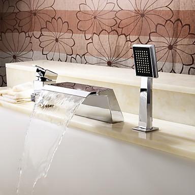 contemporaine robinet de baignoire cascade avec douche à main ...