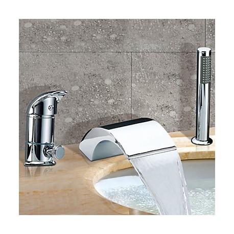 Chrome mitigeur robinet cascade baignoire contemporaine généralisée ...