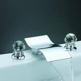dégagement - mélangeurs chromées robinet répandue baignoire cascade