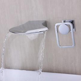 Contemporary Chrome Fashion Design mural cascade robinet de bain