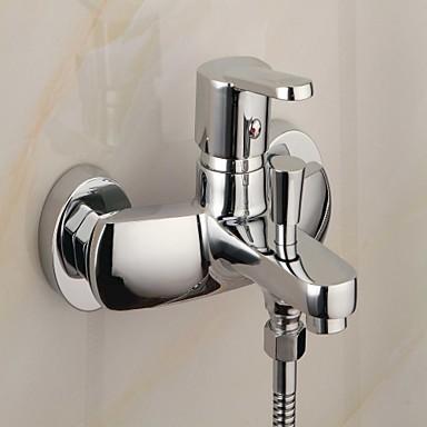 robinet de baignoire finition chrome contemporaine avec douchette robinets boutique. Black Bedroom Furniture Sets. Home Design Ideas