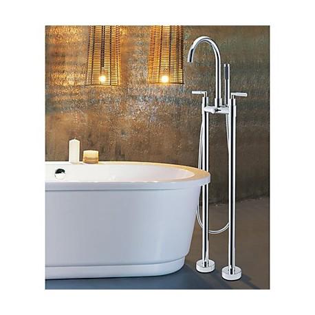 deux tages poign e baignoire debout robinet avec. Black Bedroom Furniture Sets. Home Design Ideas