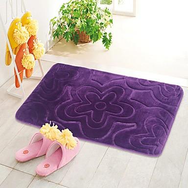 tapis 1pc d contract tapis de bain polyester moderne salle de bain facile nettoyer. Black Bedroom Furniture Sets. Home Design Ideas