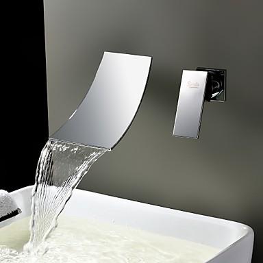 robinet de salle de bain jet pluie / séparé / montage mural with ... - Robinet Salle De Bain Mural