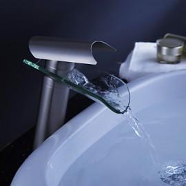 Vasque Mitigeur un trou in Nickel brossé Robinet lavabo