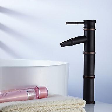 Vasque Mitigeur un trou in Bronze huilé Robinet lavabo Robinets