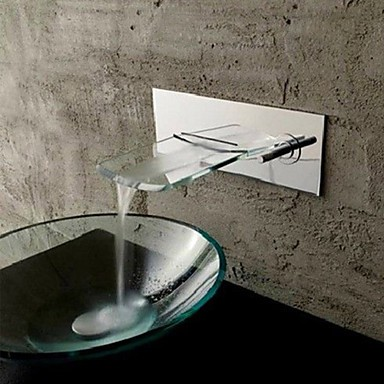 mural chromé cascade de cuivre robinet lavabo - argent - Robinets ...