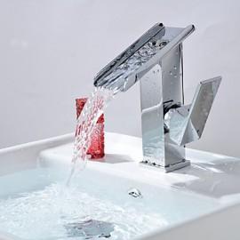 Set de centre Mitigeur un trou in Chromé Robinet lavabo