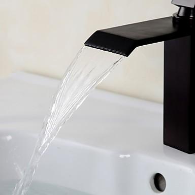contemporaine orbe laiton cascade salle de bains robinet. Black Bedroom Furniture Sets. Home Design Ideas