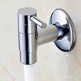 épaissi couverte de balai mural unique robinet d'eau froide rapide - argent
