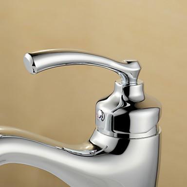 robinet de salle de bain centerset with chrome 1 poign e 1 trou robinets boutique. Black Bedroom Furniture Sets. Home Design Ideas
