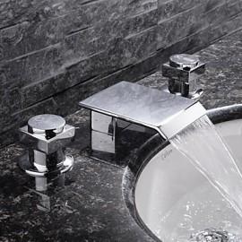 répandues mélangeurs trois trous en chrome Robinet lavabo