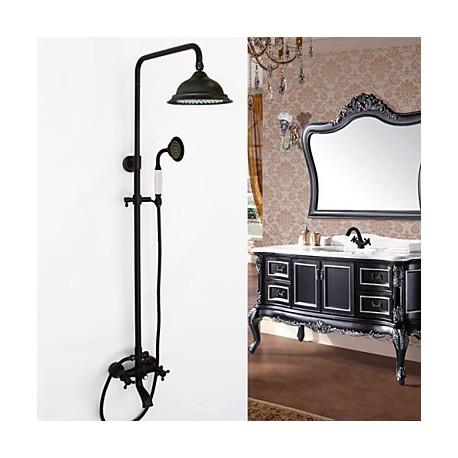 robinet de douche antique douchette inclue laiton bronze huil robinets boutique. Black Bedroom Furniture Sets. Home Design Ideas
