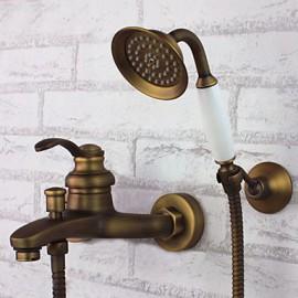 Robinet de baignoire - Antique - Douchette inclue - Laiton (Laiton Antique)