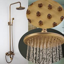 Robinet de douche - Antique - Cascade / Douche pluie / Douchette inclue - Laiton (Bronze antique)