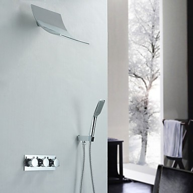 robinet de douche contemporain avec pommeau de douche + douche à ...
