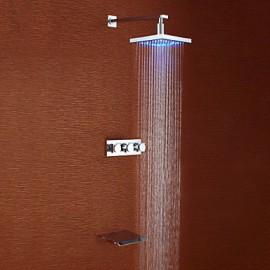 Robinet de douche - Contemporain - LED / Cascade / Douche pluie - Laiton (Chromé)